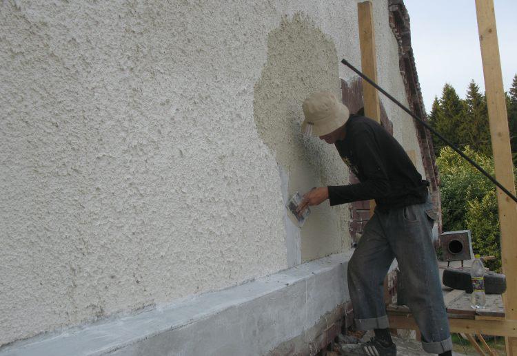 Оштукатуривание цементным раствором кирпича интенсификация бетона