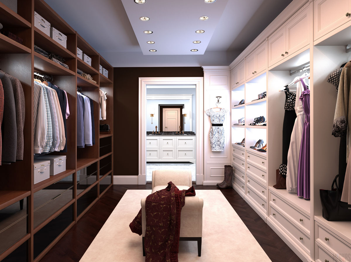 Проекты гардеробных комнат фото