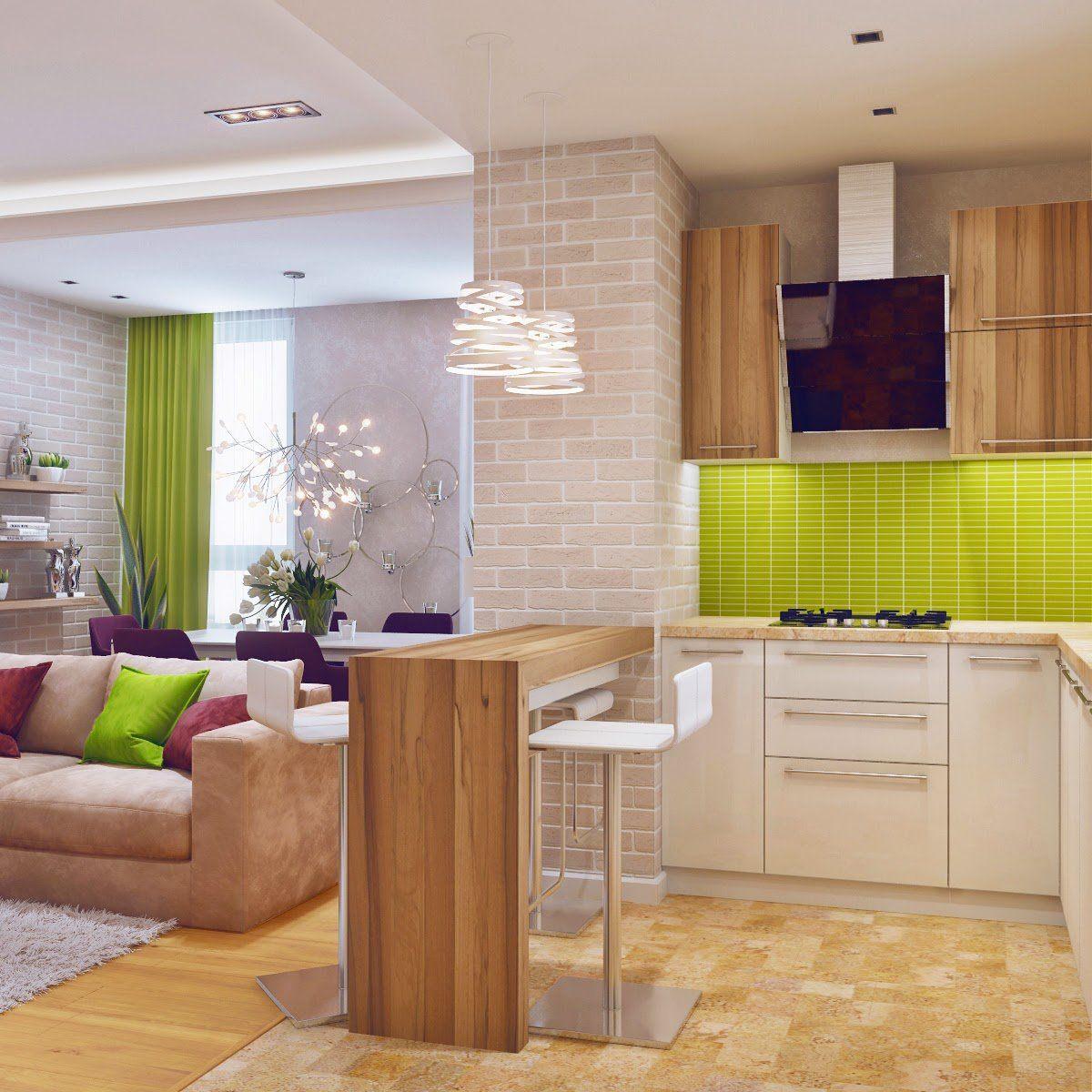 Комната студия с кухонной зоной фото фотозону
