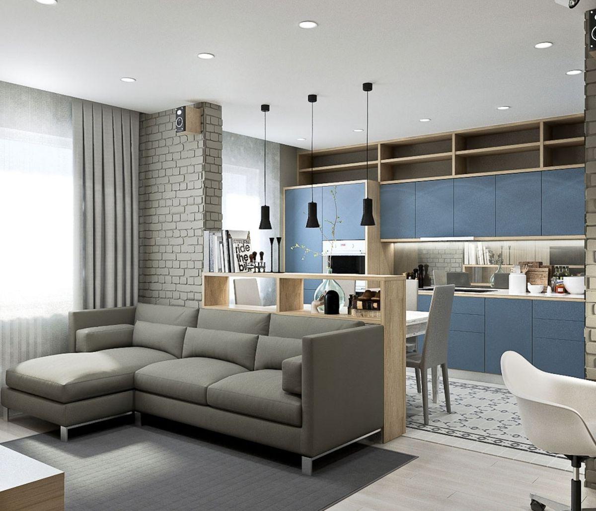 дерево обустроить студию кухню с гостиной фото дизайна того