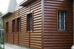 Фото домов обшитых металлическим сайдингом – обшивки дома «Блок хаусом» под кирпич и камень, алюминиевый евробрус