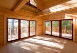 Окна в пол в деревянном доме – панорамные окна в деревянных домах