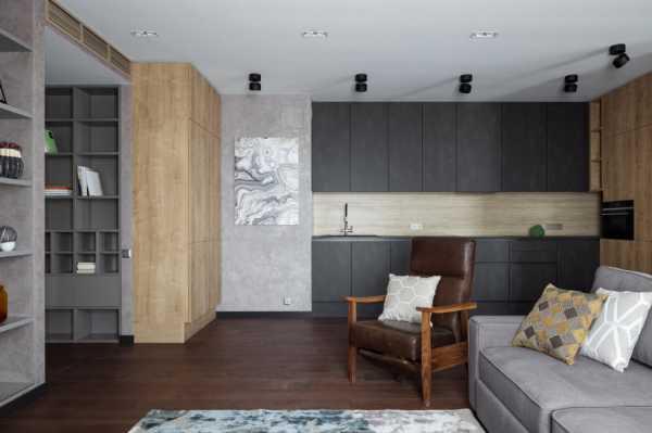 модерновой гостиной занимать большая софа плавность линий