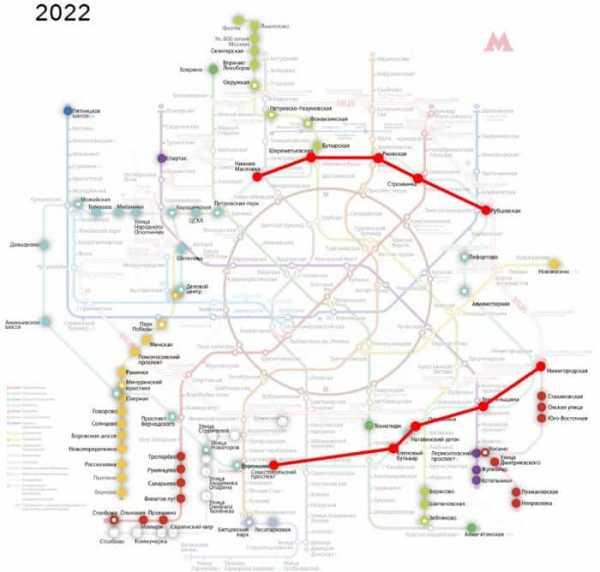 Схема метро москвы 2020 года с новыми станциями с расчетом времени на карте